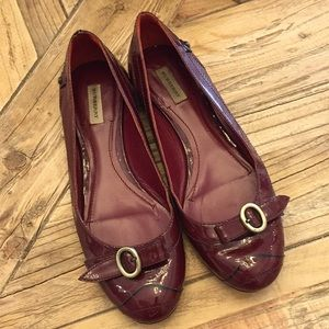 Authentic Burberry Size 37 burgundy flats